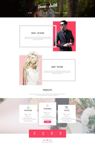 Wedding & Wedding Planner PSD Template by ArrowHiTech ...