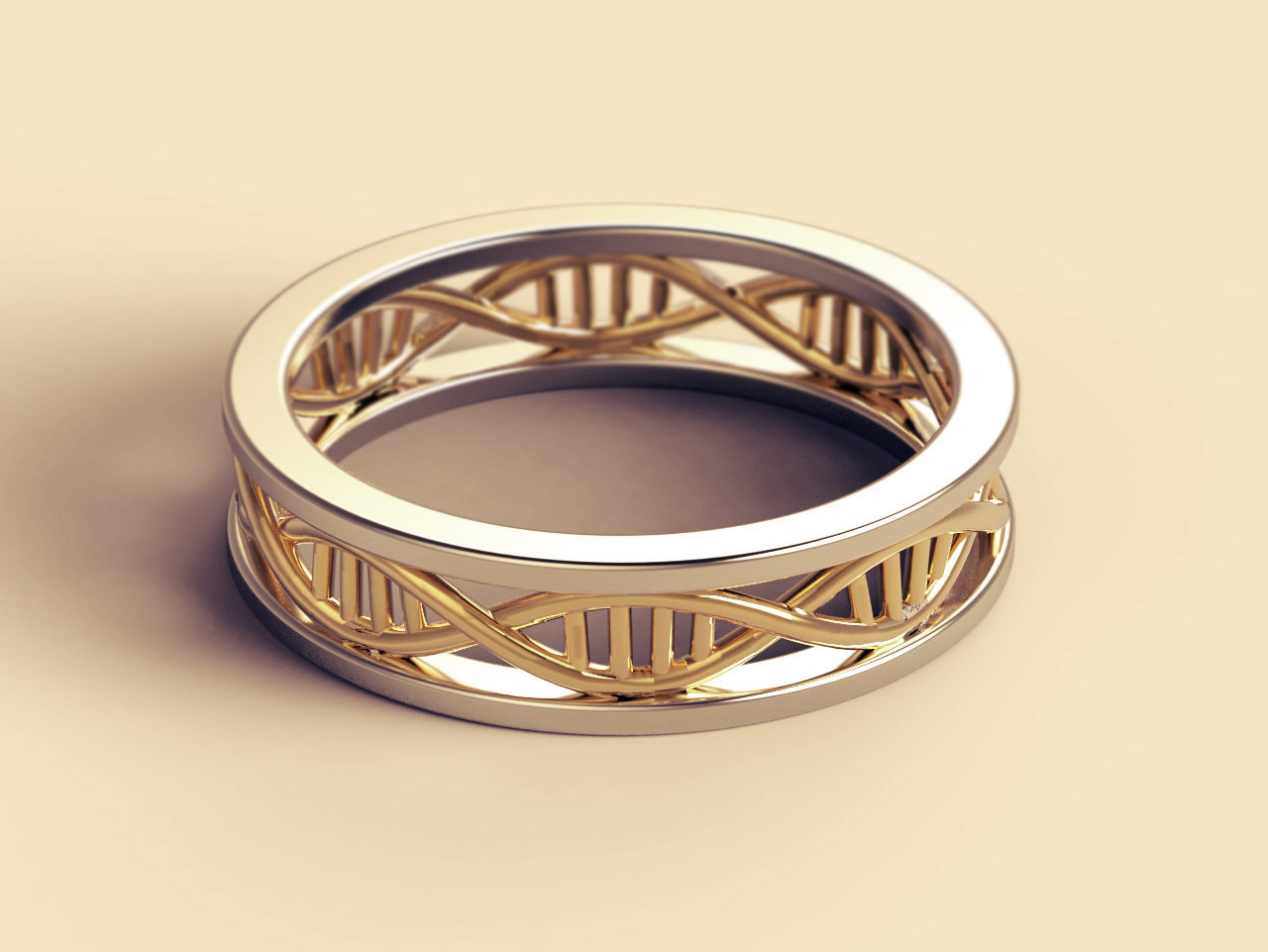 33 geeky engagement rings offbeat bride harley quinn wedding ring Science Nerds Alight Here for Micro DNA Wedding Ring