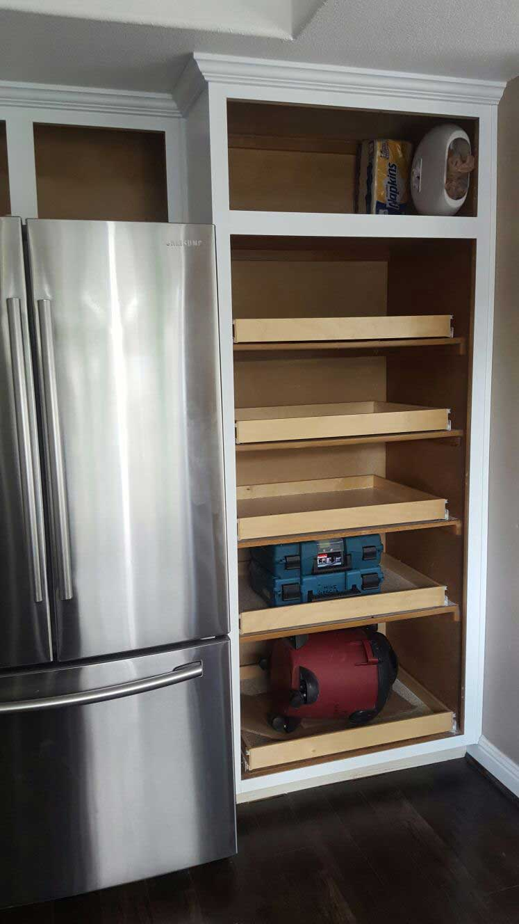 redo kitchen cabinets redoing kitchen cabinets Redo your kitchen cabinets and add pullout shelves