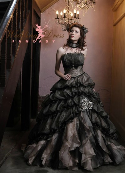 Purple steampunk wedding dress 2016-2017 | B2B Fashion