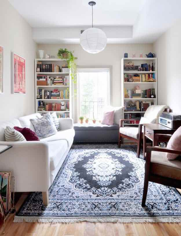 Long Narrow Living Room Ideas That Won t Cramp Your Style Get Rid Of the Coffee Table   Long Narrow Living Room Ideas That Won t