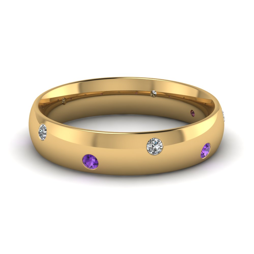 A Stone+Type Amethyst 7CA Personalized purple diamond wedding ring Amethyst Heart Ring Diamond Accents Sterling Silver