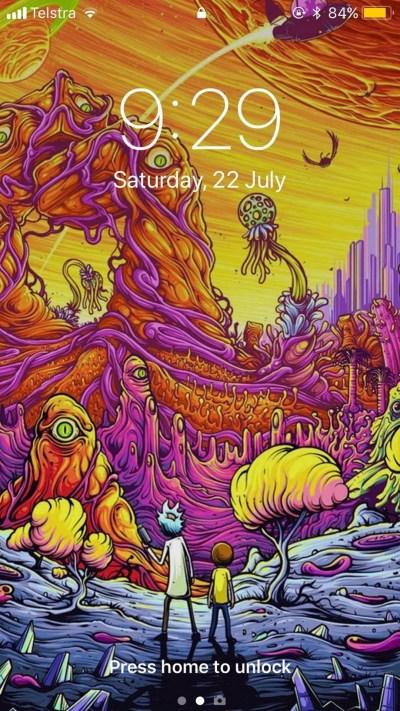 Wallpaper Rick And Morty iPhone Lockscreen | 2019 3D iPhone Wallpaper