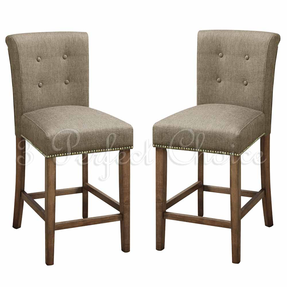 counter height chairs counter height kitchen chairs 2 PC Dining High Counter Height Side Chair Bar Stool 24