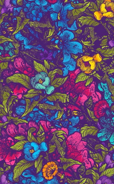 tumblr Cool Teen flower blue pink posted colour yellow colours backgrounds colores wallpapers ...
