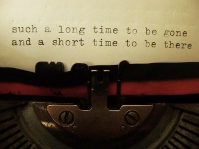 Me and My Writing Machine