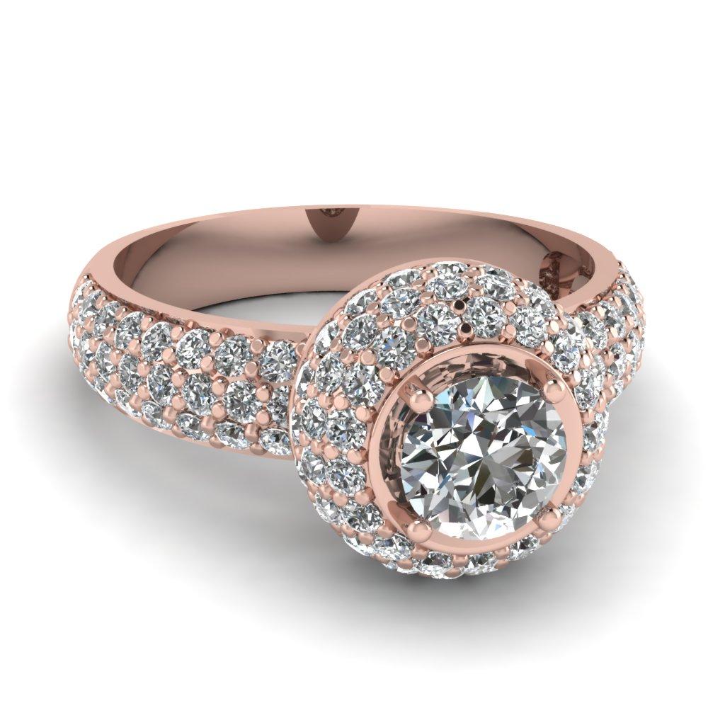 rosegold rose gold wedding rings Blush Rose Goldtone Cubic Zirconia Wedding Ring Guard