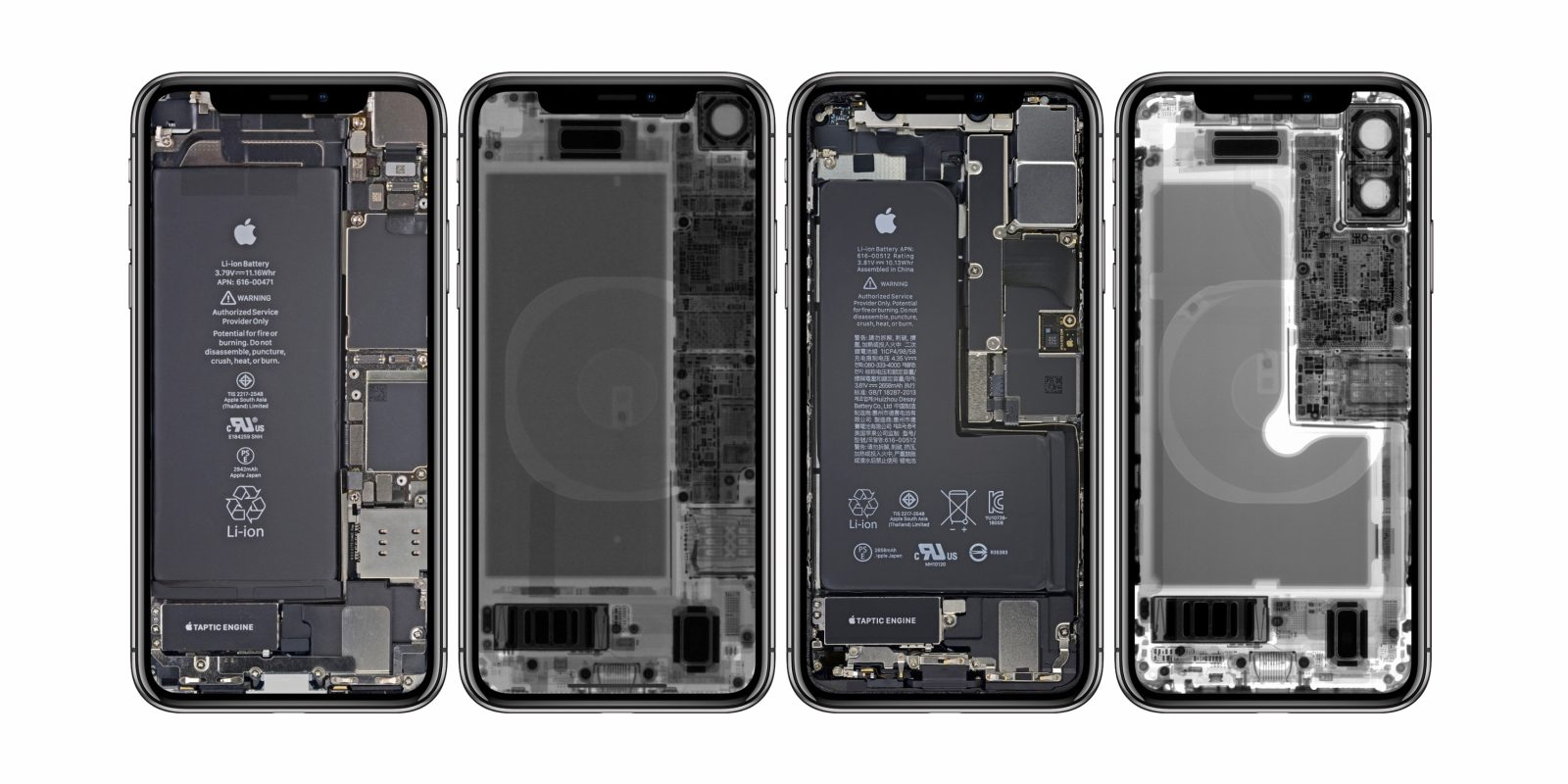 iFixit releases fun x-ray and internal wallpapers for iPhone XR, XS available too - 9to5Mac