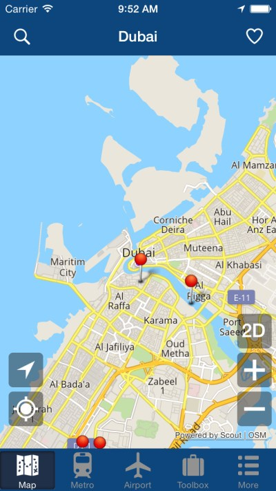 App Shopper: Dubai Offline Map - City Metro Airport and Travel Plan (Travel)