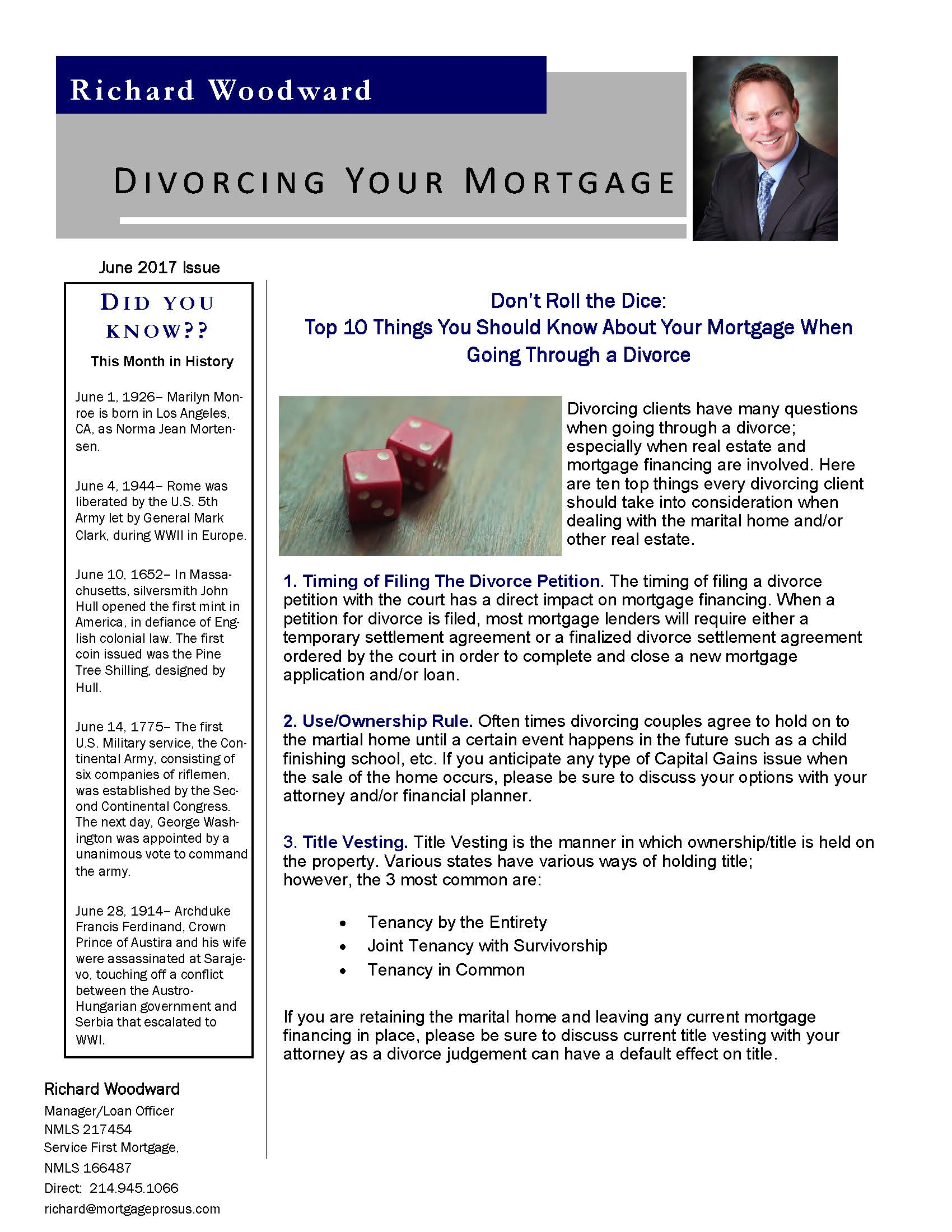 Top 10 Things You Should Know About Your Mortgage When
