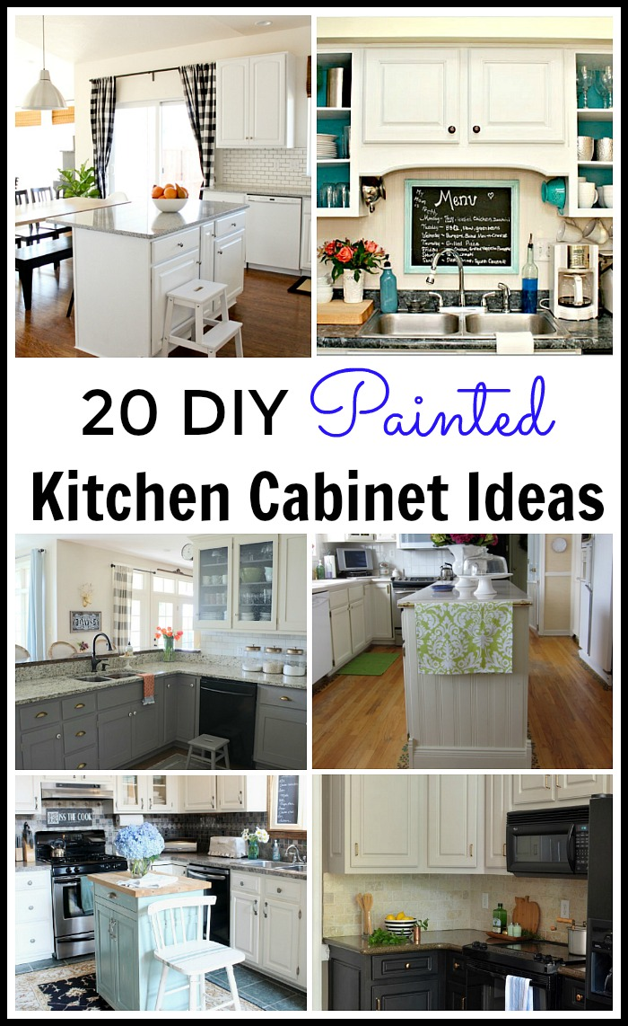 20 diy painted kitchen cabinet ideas diy kitchen ideas Lots of great DIY Painted Kitchen Cabinet tutorials Everything you want to know about how