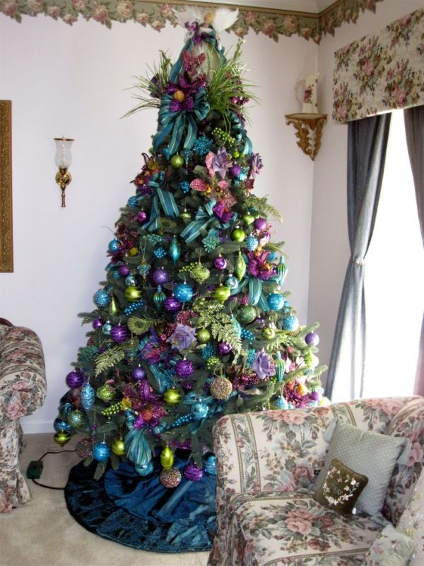 60 Most Popular Christmas Tree Decorations Ideas   A DIY Projects Peacock Christmas Tree Decorations