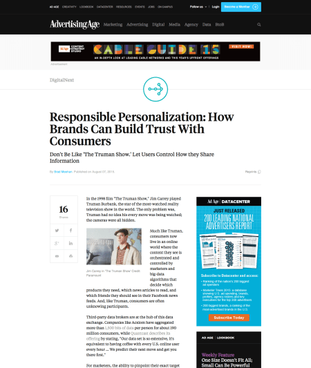 Responsible Personalization How Brands