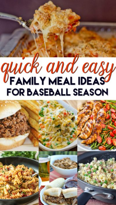 Quick and Easy Family Meal Ideas for Baseball Season - A Grande Life