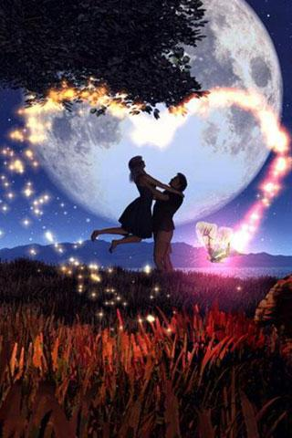 Lovers at night - Android Informer. Great Live Wallpaper Bring Pure & Romantic Love for Android ...
