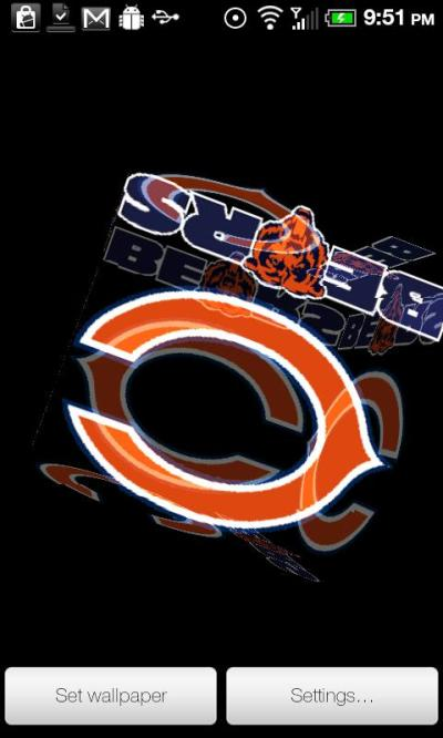 Bears Live Wallpaper PRO - Android Informer. Chicago Bears 3D rotating cube live wallpaper PRO ...