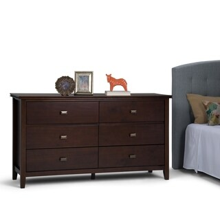 Michelle Media Chest in Mahogany with drop down drawers - 17914376 - Overstock.com Shopping ...