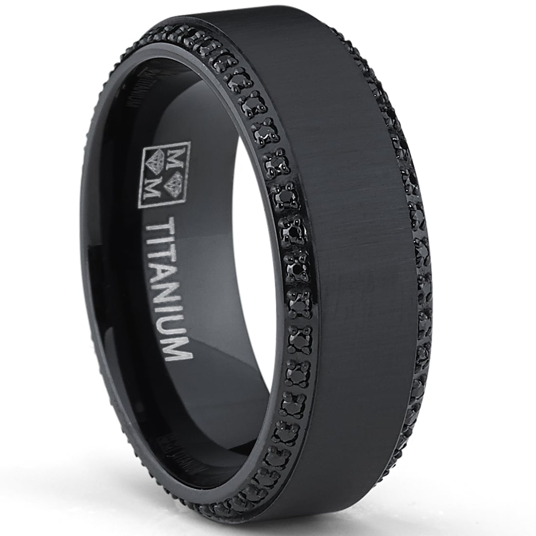 mens black wedding ring onyx wedding band In Black Wedding Rings With Diamonds For Men Rare And Much Admired