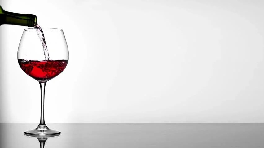 Red Wine Poured In Glass On Table Stock Footage Video 2715941 | Shutterstock