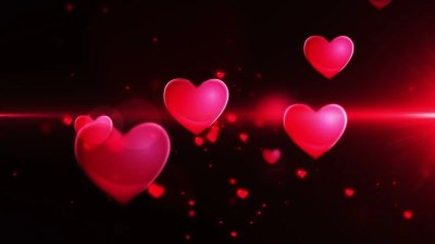Pink Heart Confetti And Sparks Flying Against Pink Heart In Slow Motion Stock Footage Video ...