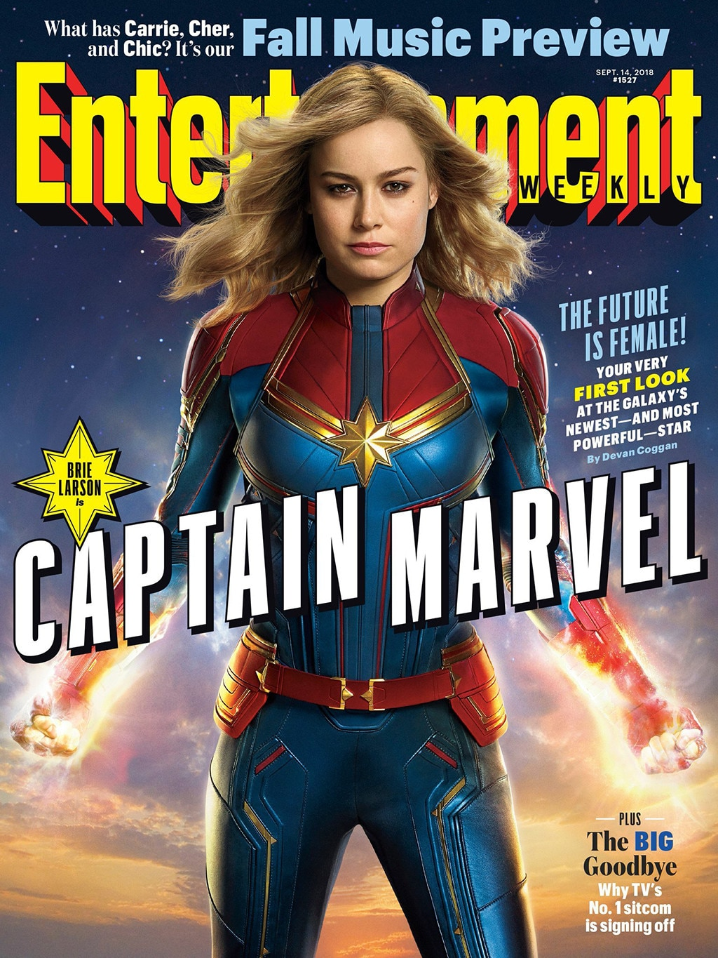 Brie Larson Looks Powerful in Captain Marvel First Look   E  News Captain Marvel  Entertainment Weekly