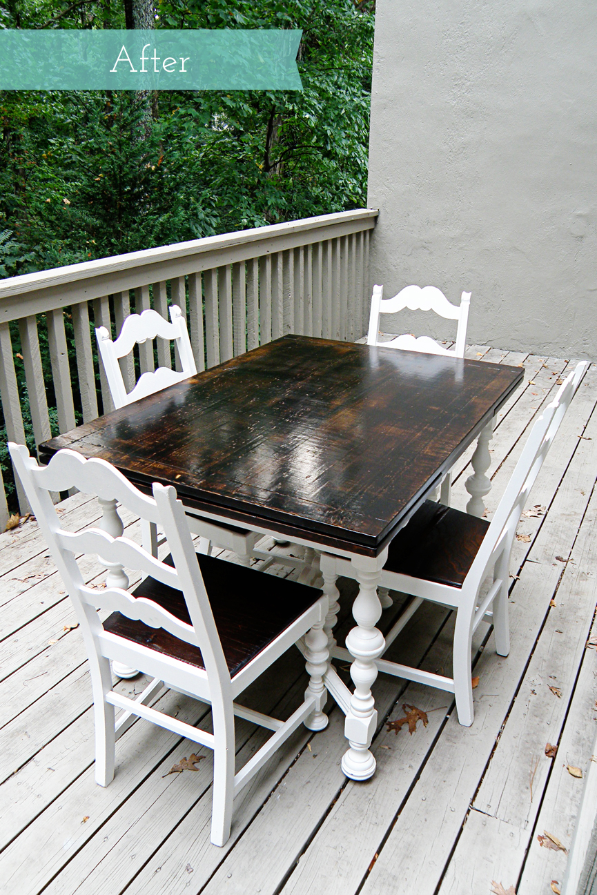 kitchen table and chairs rustic makeover painting kitchen table The