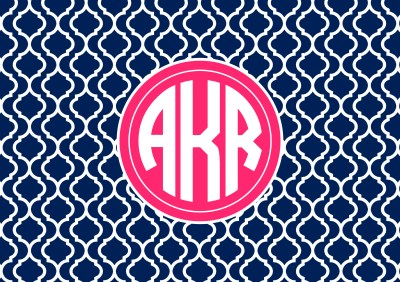 Personalised Monogram Wallpaper | allaboutthehouseblog