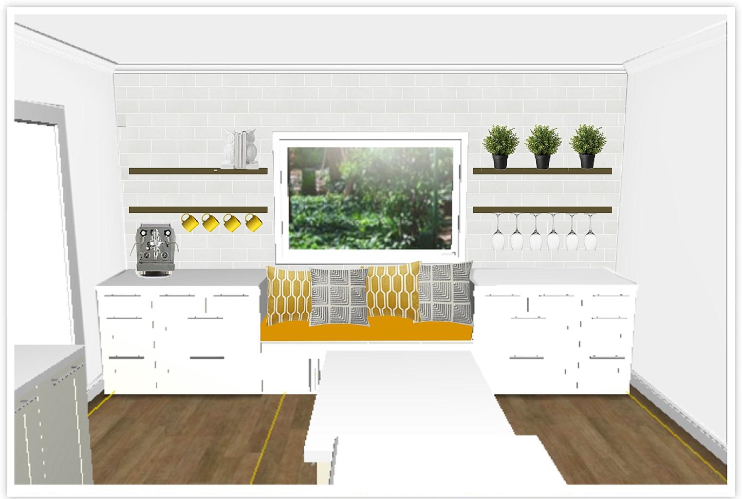 ikea semihandmade kitchen renovation before and after ikea kitchen remodel IKEA Kitchen planner and photoshop mock up