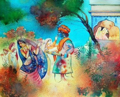 Holi 2018 Radha Krishna Images HD Wallpapers Photos Pictures 3D Pics Free Download For FB & Whatsapp