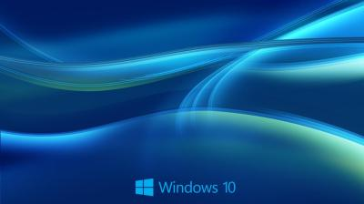 Windows 10 Wallpaper HD in Blue Abstract with New Logo | HD Wallpapers for Free