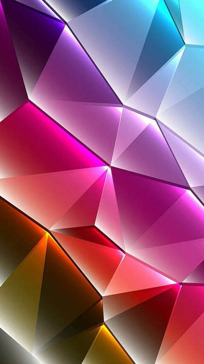 Cool Phone Wallpapers 01 of 10 with Colorful 3D Triangles - HD Wallpapers | Wallpapers Download ...