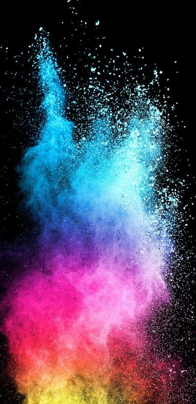 Abstract Colorful Powder with Dark Background for Samsung Galaxy S9 Series Wallpaper | HD ...