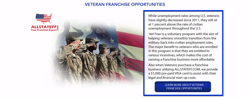 VETERAN FRANCHISE OPPORTUNITIES: ALLSTATEFF.COM – FRANCHISE EXPERT