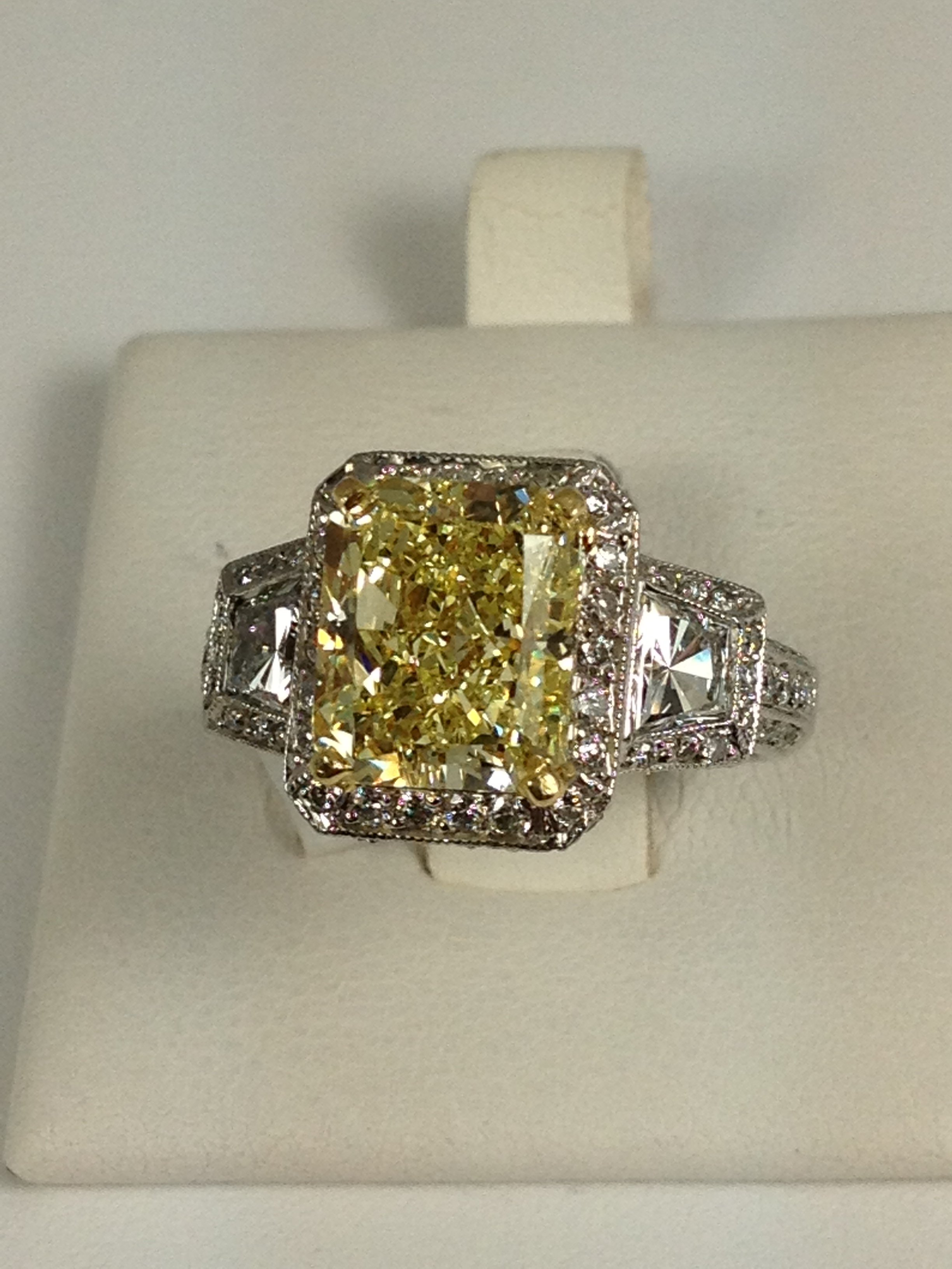 top picks for the holidays from alson jewelers yellow diamond wedding rings If you are thinking about proposing or if you are looking to upgrade your engagement ring this ring is spectacular This ring has a 4 42 carat Fancy Yellow