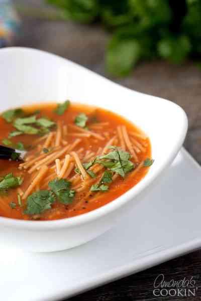 Mexican Noodle Soup, Sopa de Fideos: a flavorful cup of soup!