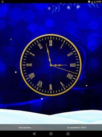 Winter Clock live wallpaper скачать на андроид бесплатно
