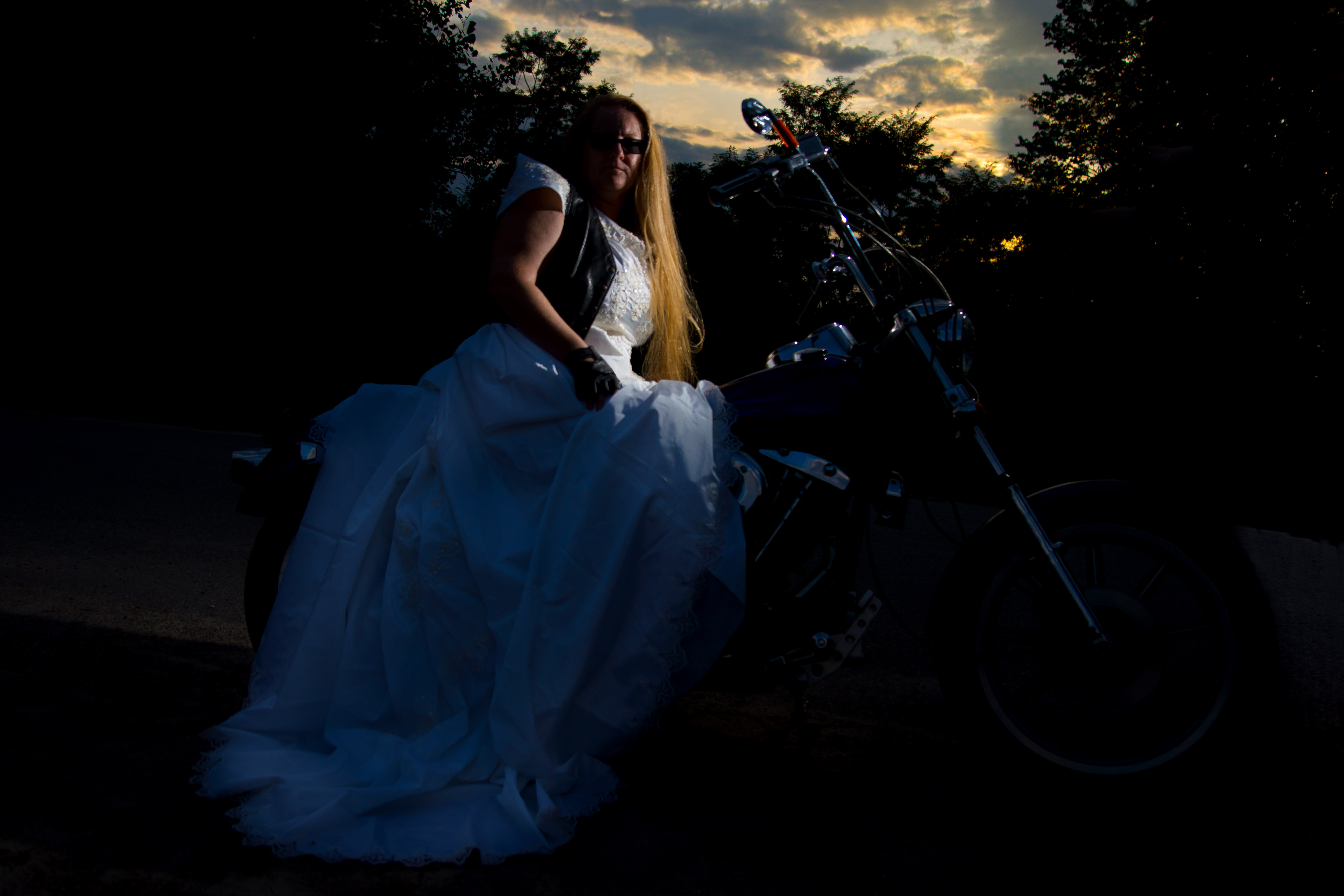harley davidson harley davidson wedding dresses The very cool full circle moment backstory to this session is that Karin wore a wedding dress on a Harley for her first wedding