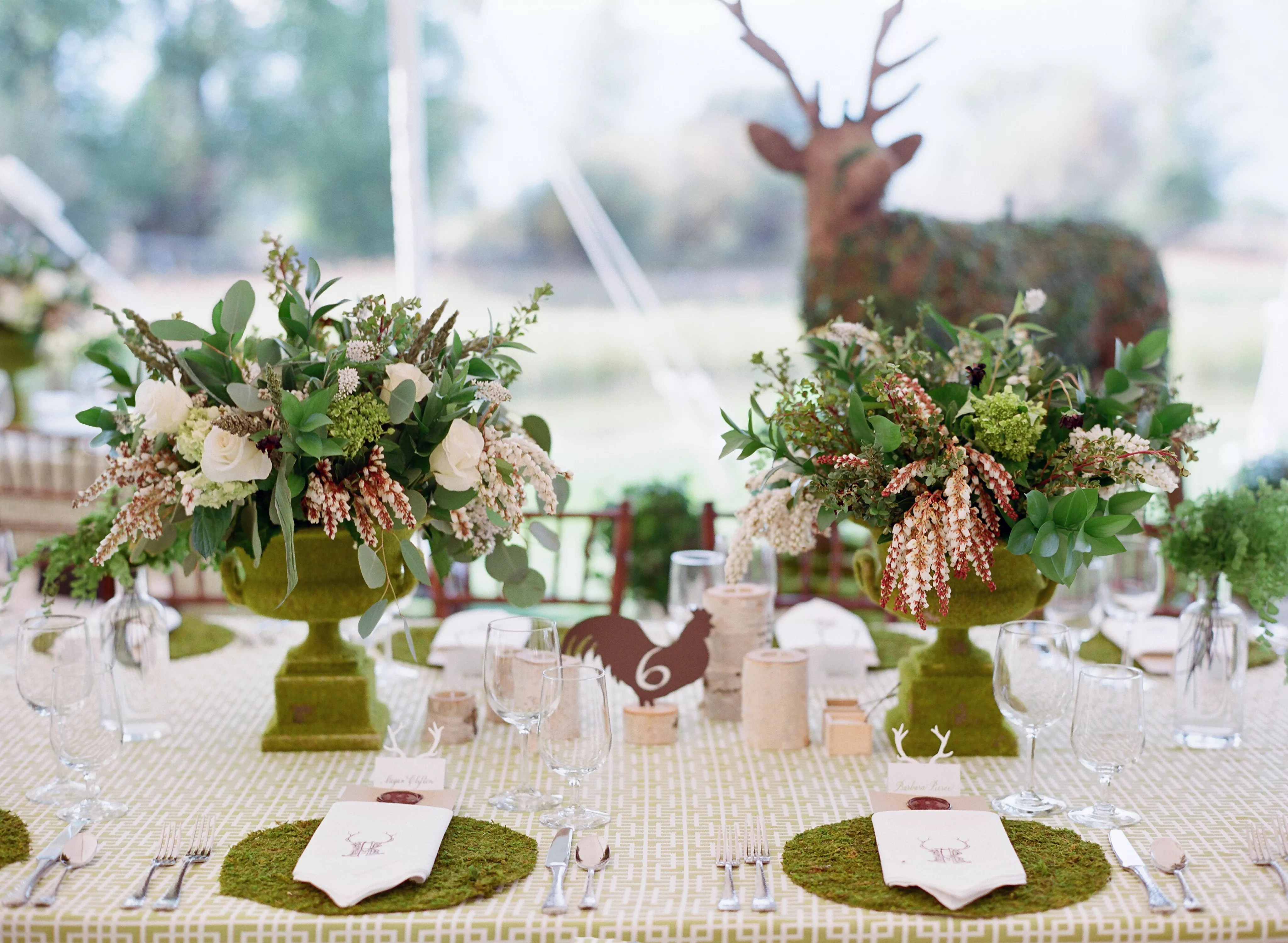 rustic wedding centerpieces photos rustic wedding centerpieces Rustic Tablescape With Live Moss Place Setting