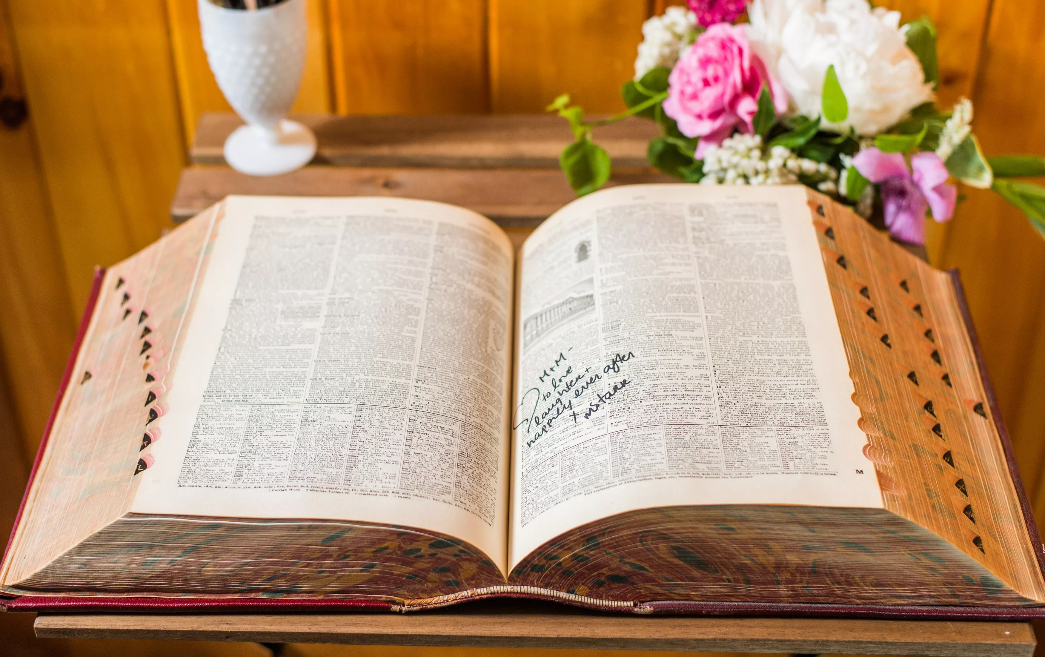 wedding guest books photos wedding books Vintage Dictionary Guest Book
