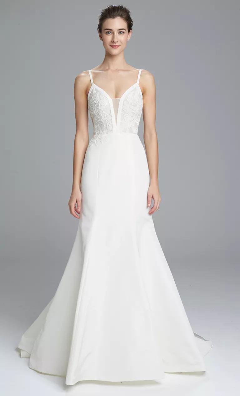 amsale wedding dresses bridal fashion week spring simple bohemian wedding dresses Amsale trumpet wedding dress Spring