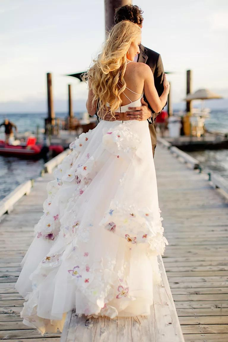 hayley paige wedding photos married discounted wedding dresses Hayley Paige and Danny Wallis s wedding