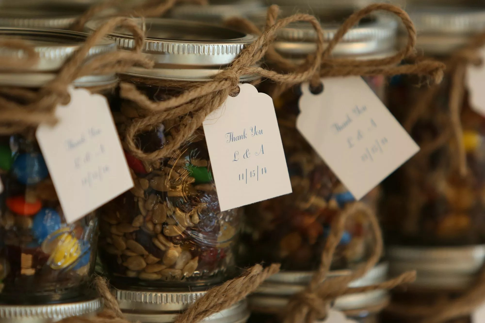 fall wedding favors photos fall wedding favors DIY Trail Mix in Mason Jar Wedding Favors