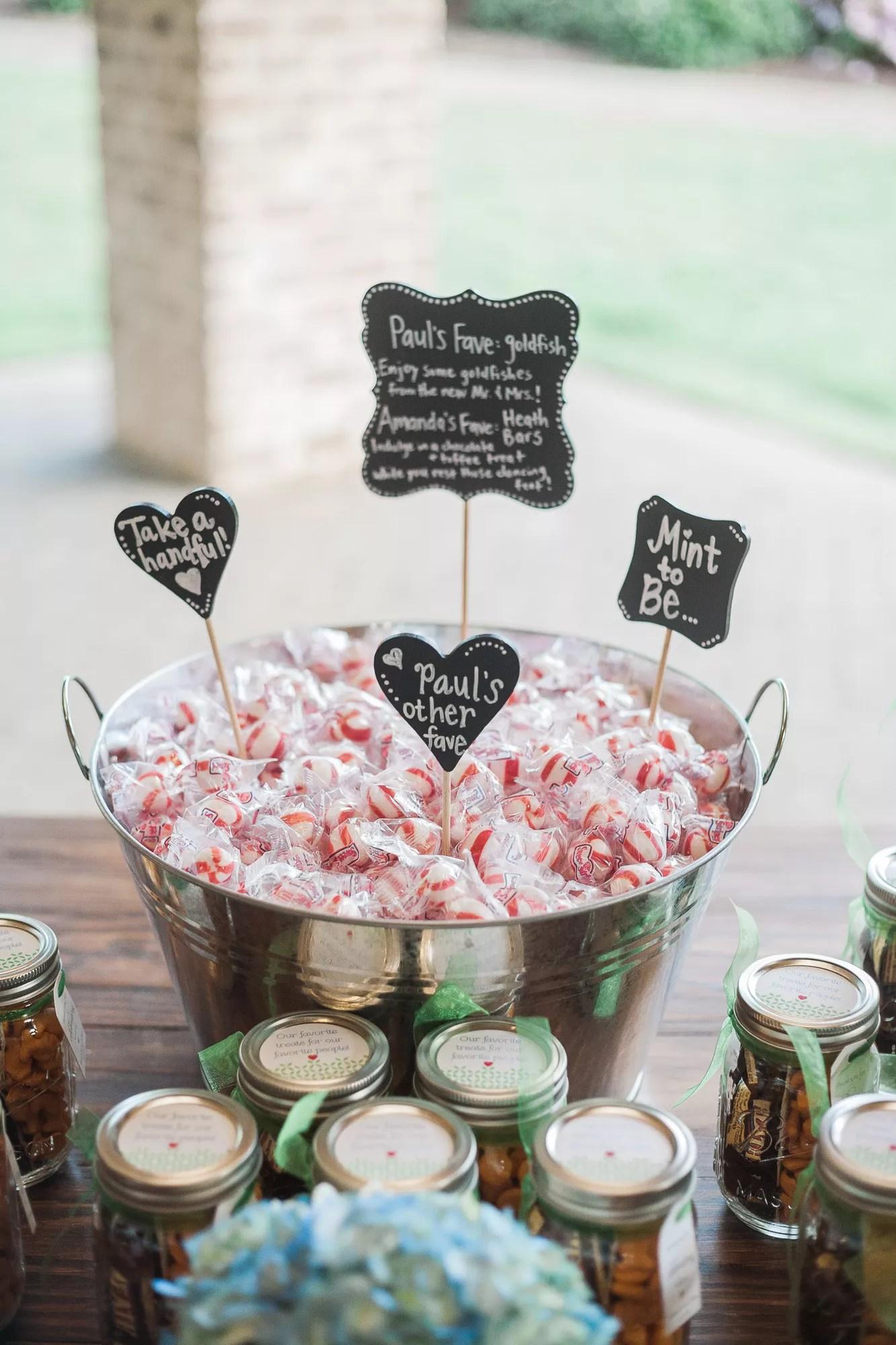 chalkboard wedding gifts favors photos wedding gifts for guests Mint Wedding Favors With DIY Chalkboard Signs
