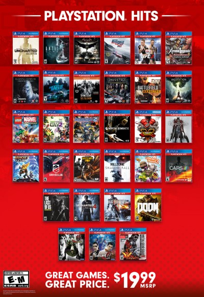 16 more PS4 games become PlayStation Hits next week