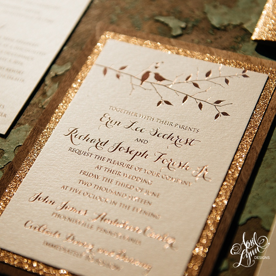 ethereal wedding invitations in rose gold rose gold wedding invitations Calligraphy Wedding Invitations in Rose Gold