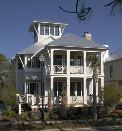 Coastal Beach House Plans - 4 Bedrooms & 4 Covered Porches