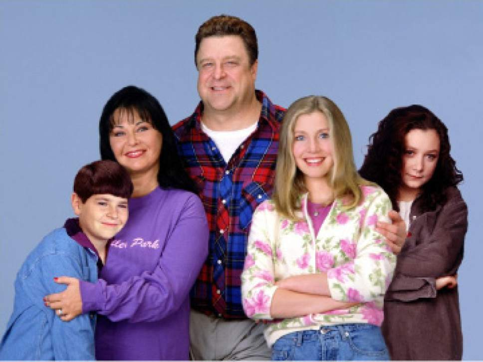 Roseanne  is returning to ABC in 2018   The Salt Lake Tribune Michael Fishman  Roseanne Barr  John Goodman  Sarah Chalke and Sara Gilbert  starred in