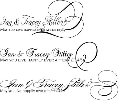 wedding font | Arjaybi's Blog