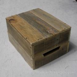 Natural Reclaimed Wood Crate Primitive Folk Art Rustic Farmhouse Decor