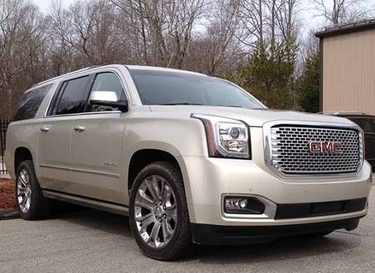 2015 Chevrolet Tahoe  GMC Yukon   First Drive Review   Consumer     While lesser Yukons use the same 5 3L as the Chevys  top trim Denali  versions employ a 420 hp  6 2 liter V8 exclusively  We haven t been exactly  bowled over